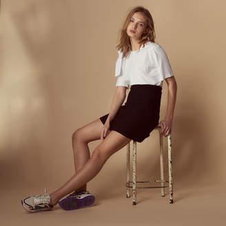 Sandro Embroidered skater skirt