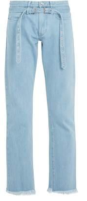 Marques Almeida MARQUES'ALMEIDA Belted double-loop denim jeans
