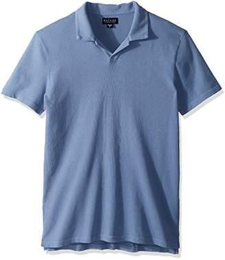 Velvet by Graham & Spencer Men's Velvet's Short-Sleeve Vintage Jersey Buttonless Polo