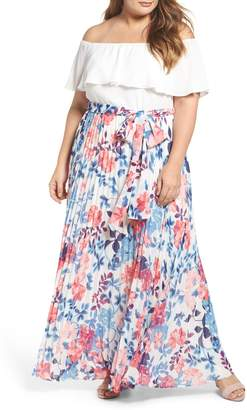 Eliza J Off the Shoulder Maxi Dress