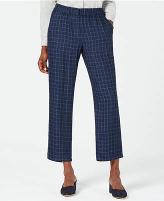 Eileen Fisher Printed Cropped Silk Pants, Regular & Petite