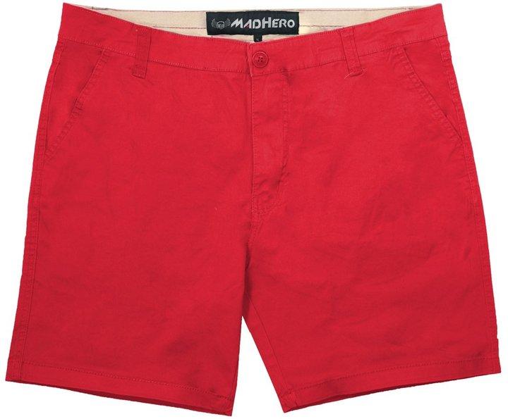 MADHERO Mens Cotton Twill Solid Color Elastic Loose Cargo Shorts Color Size XL