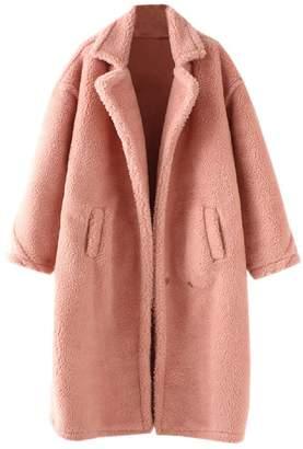 Goodnight Macaroon 'Alexus' Pink Lapels Teddy Coat