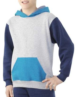 Fruit of the Loom Boys' Explorer Fleece Super Soft Pullover Hoodie with Contrast Sleeves