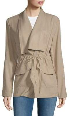 Vigoss Layered Drawstring Jacket