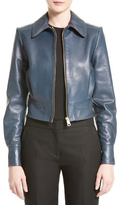 Women's Lanvin Lambskin Leather Bomber Jacket $3,350 thestylecure.com