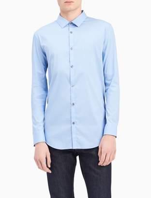 Calvin Klein slim fit infinite stretch chambray shirt