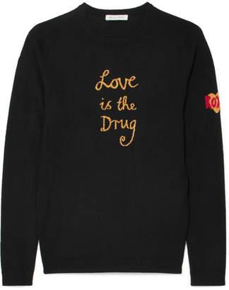 Bella Freud Love Is The Drug Wool-blend Sweater - Black