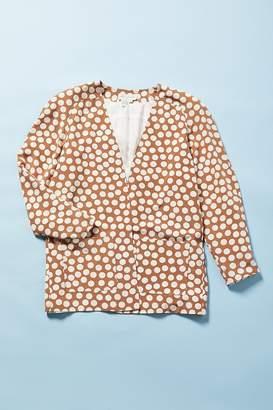 Urban Renewal Vintage Brown Polka Dot Blazer