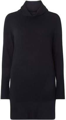 Dorothy Perkins Womens Navy Cowl Neck Knitted Tunic