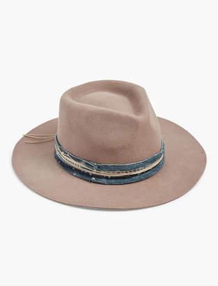 Lucky Brand INDIGO STITCH WOOL HAT
