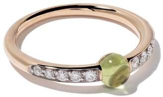 Pomellato 18kt rose gold M'ama non M'ama peridot & diamond ring