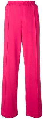 Area contrast band trousers