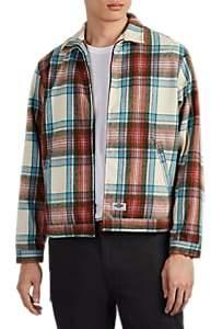 Dickies CONSTRUCT Men's Logo Plaid Flannel Zip-Front Jacket