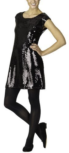 Isaac Mizrahi for Target® Sequin Tunic Dress - Ebony