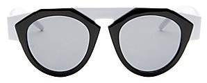 Smoke X Mirrors Women's x FIORUCCI Black & White Round Sunglasses