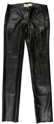 Graham & Spencer Faux Leather Straight Leg Pants w/ Tags
