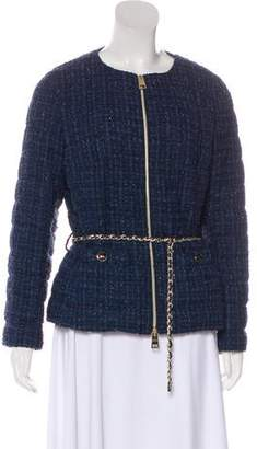 Herno Tweed Collarless Jacket