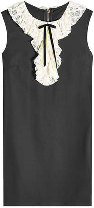 Philosophy di Lorenzo Serafini Shift Dress with Virgin Wool and Lace