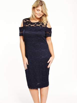 AX Paris CURVE Cold Shoulder Lace Bodycon