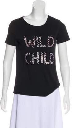 Alice + Olivia Embellished Short Sleeve T-Shirt