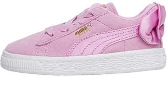 23462295dcd Puma Infant Girls Suede Bow AC Trainers Orchid