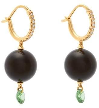 Raphaele Canot 18kt Gold & Onyx Drop Earrings - Womens - Black