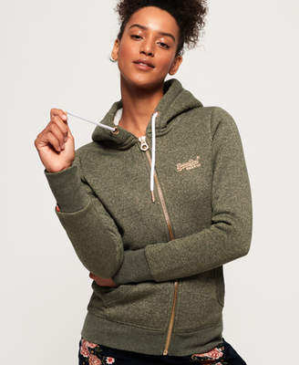 Superdry Orange Label Sparkle Borg Zip Hoodie