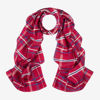 Bally Checked Silk Scarf
