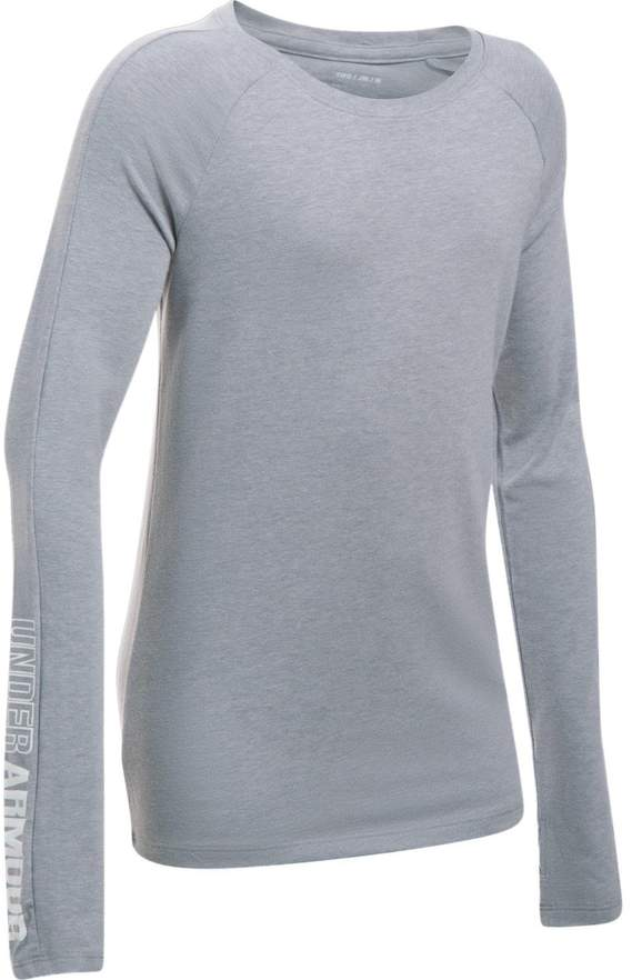Under Armour Girls 7-16 Under Armour Favorite Knit Long Sleeve Tee