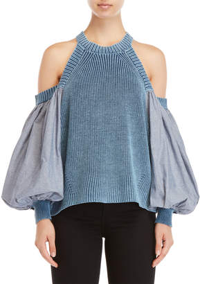 Free People Catch A Glimpse Cold Shoulder Top