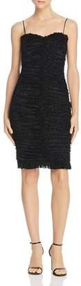 Rebecca Vallance Laurent Ruched Velvet Leopard Dress