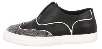 Giuseppe Zanotti Embellished Leather Sneakers