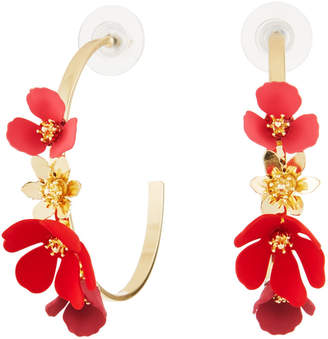 Fragments for Neiman Marcus Flower Hoop Earrings