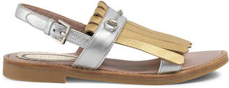 Children's metallic Horsebit sandal $410 thestylecure.com