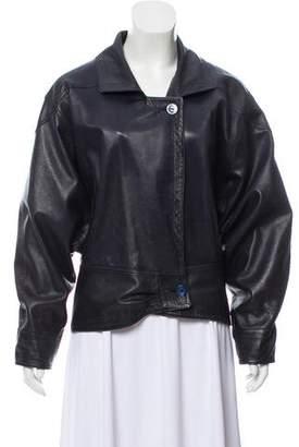 Loewe Leather Notch-Lapel Jacket