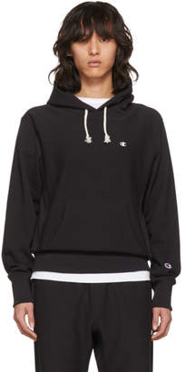 Champion Reverse Weave Black Warm-Up Hoodie