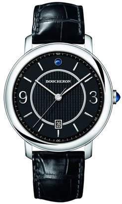 Boucheron Stainless Steel and Sapphire Epure Classic Creation Watch 42mm