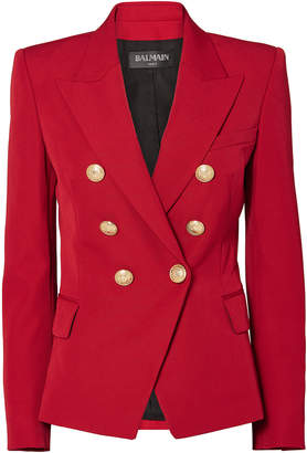 Balmain Classic Double-Breasted Red Blazer