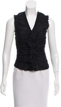 Strenesse Ruched-Accented Sleeveless Top