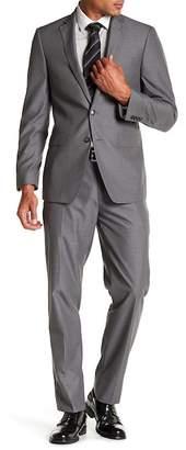 Calvin Klein Mabry Pinstripe Two Button Notch Lapel Suit $650 thestylecure.com