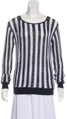Theory Crocheted Patterned Sweater