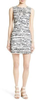 Women's Milly Nina Burnout Sheath Dress $395 thestylecure.com