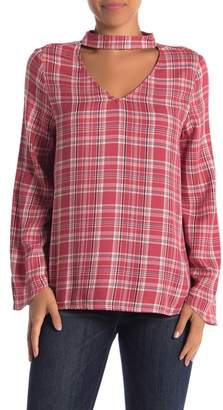 Velvet Heart Annabel Cutout Plaid Top