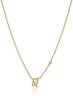 Shy by SE Leo Zodiac Necklace with Diamond Bezel