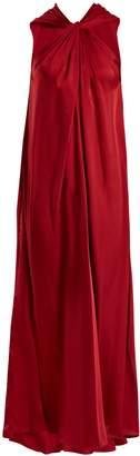 Elizabeth and James Cavan twisted-front satin-twill dress