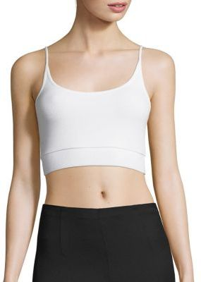 ATM Anthony Thomas Melillo Cropped Rib-Knit Camisole $90 thestylecure.com