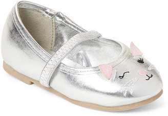 Capelli New York (Toddler Girls) Silver Winking Cat Mary Jane Flats