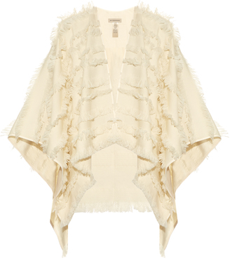 BURBERRY LONDON Fil coupé wool and cashmere-blend shawl $1,265 thestylecure.com