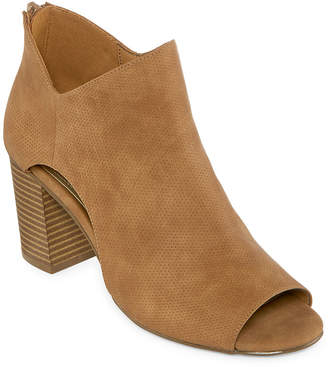 A.N.A Womens Theo Pumps Zip Peep Toe Block Heel